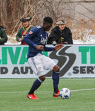 Jalil Anibaba (3) during New England Revolution's 2018 MLS Home Opener with Colorado Rapids at Gillette Stadium in Foxboro, MA on Saturday, March 10, 2018.Revs won 2-1.CREDIT/ CHRIS ADUAMA