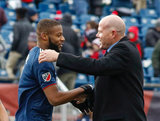 Revs Head Coach Brad Friedel during New England Revolution's 2018 MLS Home Opener with Colorado Rapids at Gillette Stadium in Foxboro, MA on Saturday, March 10, 2018.Revs won 2-1.CREDIT/ CHRIS ADUAMA