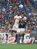 New England Revolution and New York Red Bulls MLS match at Gillette Stadium in Foxboro, MA on Saturday, June 2, 2018. Revs won 2-1. CREDIT/ CHRIS ADUAMA