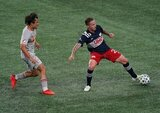 during New England Revolution and New York Red Bulls MLS match on Saturday, August 29, 2020 at Gillette Stadium in Foxboro, MA. The match ended 1-1 tie. CREDIT/ CHRIS ADUAMA.