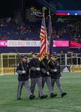 Honor Guards during New England Revolution and Real Salt Lake MLS match at Gillette Stadium in Foxboro, MA on Saturday, September 21, 2019. The match ended 0-0 tie. CREDIT/CHRIS ADUAMA.