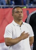 Head Coach Freddy Juarez during New England Revolution and Real Salt Lake MLS match at Gillette Stadium in Foxboro, MA on Saturday, September 21, 2019. The match ended 0-0 tie. CREDIT/CHRIS ADUAMA.