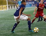 Brandon Bye (15) during New England Revolution and Real Salt Lake MLS match at Gillette Stadium in Foxboro, MA on Saturday, September 21, 2019. The match ended 0-0 tie. CREDIT/CHRIS ADUAMA.