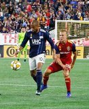 Teal Bunbury (10) during New England Revolution and Real Salt Lake MLS match at Gillette Stadium in Foxboro, MA on Saturday, September 21, 2019. The match ended 0-0 tie. CREDIT/CHRIS ADUAMA.