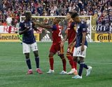 Wilfried Zahibo (23), Everton Luiz (25), Damir Kreilach (8) during New England Revolution and Real Salt Lake MLS match at Gillette Stadium in Foxboro, MA on Saturday, September 21, 2019. The match ended 0-0 tie. CREDIT/CHRIS ADUAMA.
