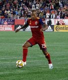 Everton Luiz (25) during New England Revolution and Real Salt Lake MLS match at Gillette Stadium in Foxboro, MA on Saturday, September 21, 2019. The match ended 0-0 tie. CREDIT/CHRIS ADUAMA.