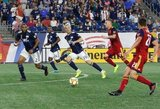 Antonio Delamea (19) during New England Revolution and Real Salt Lake MLS match at Gillette Stadium in Foxboro, MA on Saturday, September 21, 2019. The match ended 0-0 tie. CREDIT/CHRIS ADUAMA.