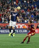 Antonio Delamea (19), Tate Schmitt (21) during New England Revolution and Real Salt Lake MLS match at Gillette Stadium in Foxboro, MA on Saturday, September 21, 2019. The match ended 0-0 tie. CREDIT/CHRIS ADUAMA.