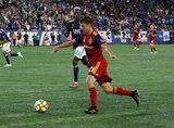 Tate Schmitt (21) during New England Revolution and Real Salt Lake MLS match at Gillette Stadium in Foxboro, MA on Saturday, September 21, 2019. The match ended 0-0 tie. CREDIT/CHRIS ADUAMA.
