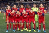 Real Salt Lake Starting XI during New England Revolution and Real Salt Lake MLS match at Gillette Stadium in Foxboro, MA on Saturday, September 21, 2019. The match ended 0-0 tie. CREDIT/CHRIS ADUAMA.