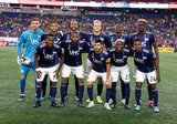 Revs Starting XI during New England Revolution and Real Salt Lake MLS match at Gillette Stadium in Foxboro, MA on Saturday, September 21, 2019. The match ended 0-0 tie. CREDIT/CHRIS ADUAMA.