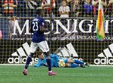 Matt Turner (30) during New England Revolution and Real Salt Lake MLS match at Gillette Stadium in Foxboro, MA on Saturday, September 21, 2019. The match ended 0-0 tie. CREDIT/CHRIS ADUAMA.