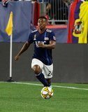 DeJuan Jones (24) during New England Revolution and Real Salt Lake MLS match at Gillette Stadium in Foxboro, MA on Saturday, September 21, 2019. The match ended 0-0 tie. CREDIT/CHRIS ADUAMA.