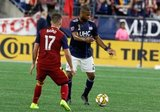 Andrew Farrell (2) during New England Revolution and Real Salt Lake MLS match at Gillette Stadium in Foxboro, MA on Saturday, September 21, 2019. The match ended 0-0 tie. CREDIT/CHRIS ADUAMA.