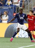 Wilfried Zahibo (23) during New England Revolution and Real Salt Lake MLS match at Gillette Stadium in Foxboro, MA on Saturday, September 21, 2019. The match ended 0-0 tie. CREDIT/CHRIS ADUAMA.
