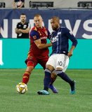 Erik Holt (20), Teal Bunbury (10) during New England Revolution and Real Salt Lake MLS match at Gillette Stadium in Foxboro, MA on Saturday, September 21, 2019. The match ended 0-0 tie. CREDIT/CHRIS ADUAMA.