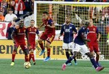 Sebastian Saucedo (23), Wilfried Zahibo (23) during New England Revolution and Real Salt Lake MLS match at Gillette Stadium in Foxboro, MA on Saturday, September 21, 2019. The match ended 0-0 tie. CREDIT/CHRIS ADUAMA.