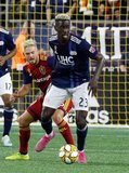 Wilfried Zahibo (23), Kelyn Rowe (6) during New England Revolution and Real Salt Lake MLS match at Gillette Stadium in Foxboro, MA on Saturday, September 21, 2019. The match ended 0-0 tie. CREDIT/CHRIS ADUAMA.