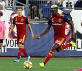 Sam Johnson (50) during New England Revolution and Real Salt Lake MLS match at Gillette Stadium in Foxboro, MA on Saturday, September 21, 2019. The match ended 0-0 tie. CREDIT/CHRIS ADUAMA.