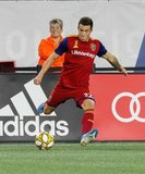 Aaron Herrera (22) during New England Revolution and Real Salt Lake MLS match at Gillette Stadium in Foxboro, MA on Saturday, September 21, 2019. The match ended 0-0 tie. CREDIT/CHRIS ADUAMA.