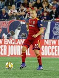 Erik Holt (20) during New England Revolution and Real Salt Lake MLS match at Gillette Stadium in Foxboro, MA on Saturday, September 21, 2019. The match ended 0-0 tie. CREDIT/CHRIS ADUAMA.