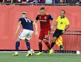 Corey Baird (17) during New England Revolution and Real Salt Lake MLS match at Gillette Stadium in Foxboro, MA on Saturday, September 21, 2019. The match ended 0-0 tie. CREDIT/CHRIS ADUAMA.