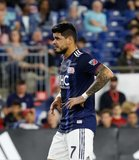 Gustavo Bou (7) during New England Revolution and Real Salt Lake MLS match at Gillette Stadium in Foxboro, MA on Saturday, September 21, 2019. The match ended 0-0 tie. CREDIT/CHRIS ADUAMA.
