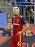 Kelyn Rowe (6) during New England Revolution and Real Salt Lake MLS match at Gillette Stadium in Foxboro, MA on Saturday, September 21, 2019. The match ended 0-0 tie. CREDIT/CHRIS ADUAMA.