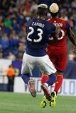 Wilfried Zahibo (23), Sam Johnson (50) during New England Revolution and Real Salt Lake MLS match at Gillette Stadium in Foxboro, MA on Saturday, September 21, 2019. The match ended 0-0 tie. CREDIT/CHRIS ADUAMA.