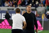 Head Coach Bruce Arena, Head Coach Freddy Juarez during New England Revolution and Real Salt Lake MLS match at Gillette Stadium in Foxboro, MA on Saturday, September 21, 2019. The match ended 0-0 tie. CREDIT/CHRIS ADUAMA.