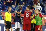 Wilfried Zahibo (23), Damir Kreilach (8), Donny Toia (4) during New England Revolution and Real Salt Lake MLS match at Gillette Stadium in Foxboro, MA on Saturday, September 21, 2019. The match ended 0-0 tie. CREDIT/CHRIS ADUAMA.