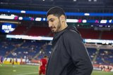 Enes Kanter -Boston Celtics during New England Revolution and Real Salt Lake MLS match at Gillette Stadium in Foxboro, MA on Saturday, September 21, 2019. The match ended 0-0 tie. CREDIT/CHRIS ADUAMA.