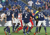 during New England Revolution and Toronto FC MLS match at Gillette Stadium in Foxboro, MA on Saturday, May 12, 2018. Revs won 3-2. CREDIT/ CHRIS ADUAMA