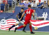 Gustavo Bou (7) during New England Revolution and Toronto FC MLS match at Gillette Stadium in Foxboro, MA on Saturday, August 31, 2019. The match ended in 1-1 tie. CREDIT/ CHRIS ADUAMA