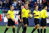 Game Officials during New England Revolution and Toronto FC MLS match at Gillette Stadium in Foxboro, MA on Saturday, August 31, 2019. The match ended in 1-1 tie. CREDIT/ CHRIS ADUAMA