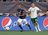 during New England Revolution and Portland Timbers MLS match at Gillette Stadium in Foxboro, MA on Saturday, September 1, 2018. The match ended in 1-1 tie. CREDIT/ CHRIS ADUAMA