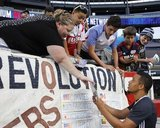during New England Revolution and Philadelphia Union MLS match at Gillette Stadium in Foxboro, MA on Saturday, August 13, 2016. Union won 4-0. CREDIT/ CHRIS ADUAMA.