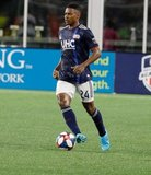DeJuan Jones (24) during New England Revolution and Vancouver Whitecaps FC MLS match at Gillette Stadium in Foxboro, MA on Wednesday, July 17, 2019.  Revs won 4-0. CREDIT/CHRIS ADUAMA