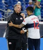 Coach Bruce Arena during New England Revolution and Vancouver Whitecaps FC MLS match at Gillette Stadium in Foxboro, MA on Wednesday, July 17, 2019.  Revs won 4-0. CREDIT/CHRIS ADUAMA