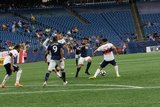 Gustavo Bou (7) during New England Revolution and Vancouver Whitecaps FC MLS match at Gillette Stadium in Foxboro, MA on Wednesday, July 17, 2019.  Revs won 4-0. CREDIT/CHRIS ADUAMA