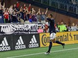 Teal Bunbury (10) Goal Celebration during New England Revolution and Vancouver Whitecaps FC MLS match at Gillette Stadium in Foxboro, MA on Wednesday, July 17, 2019.  Revs won 4-0. CREDIT/CHRIS ADUAMA