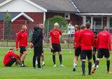during Torslanda IK training on Thursday, August 16, 2018 in Sweden. CREDIT/ CHRIS ADUAMA
