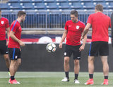 during U.S. -Ghana mens soccer press conferences and training at Rentschler Field in East Hartford, Connecticut on Friday, June 30, 2017.CREDIT/ CHRIS ADUAMA